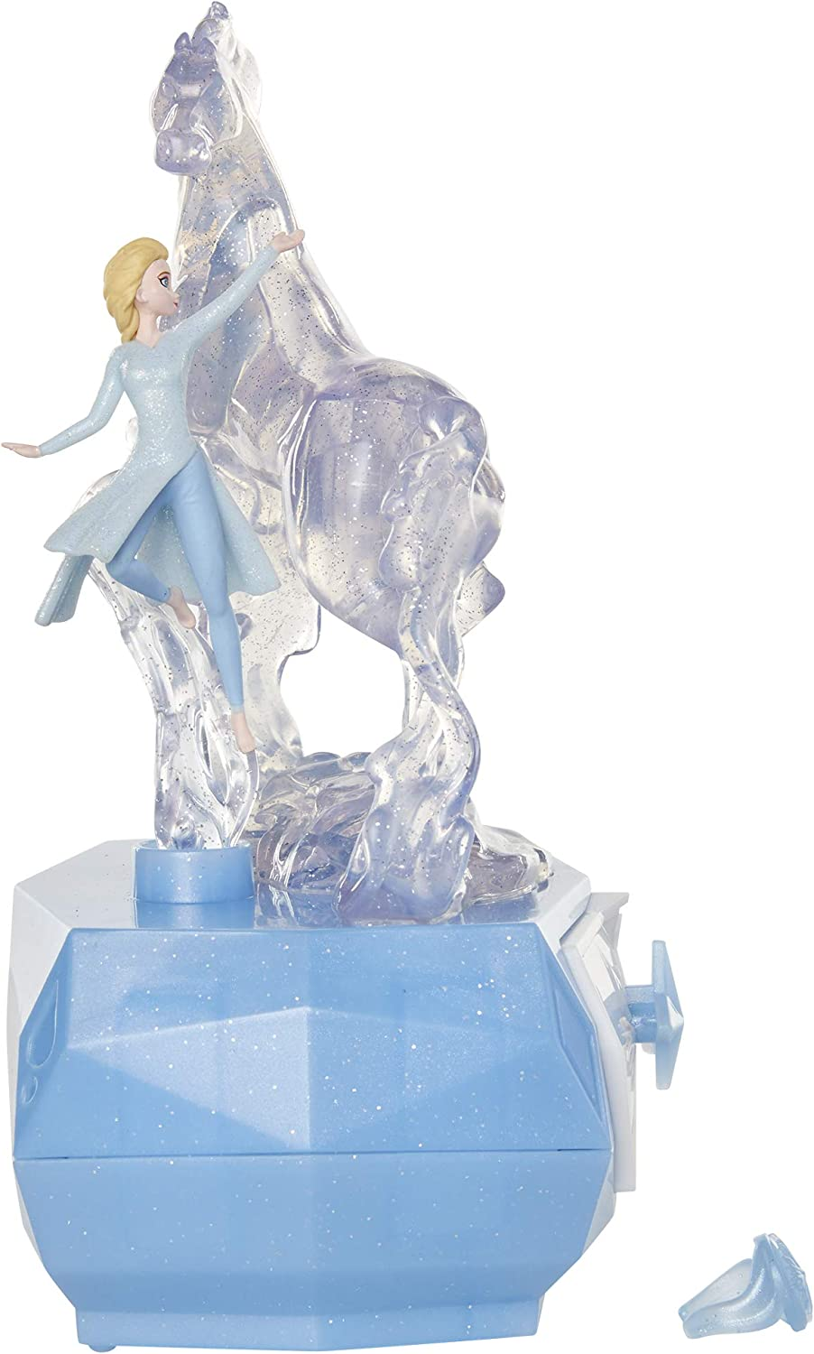 "Disney Frozen 2 Elsa & Water Nokk Jewelry Box with Snowflake Ring, Color Changing Light, Plays ""Into The Unknown"": Toys & Games"