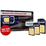 USA Unlimited SIM Card by Mobell. Unlimited Data & Texts. One month, only £36