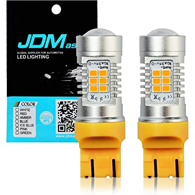 JDM ASTAR Super Bright PX Chipsets 7440 7441 7443 7444 992 T20 LED Bulbs,Amber Yellow: Automotive