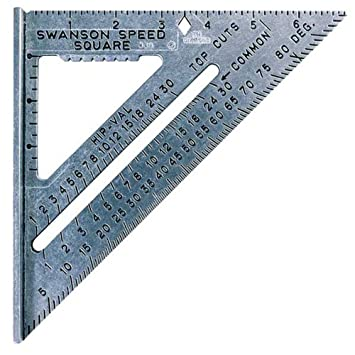 Swanson Tool S0101 7 Inch Speed Square Layout Tool With Blue Book