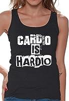 Awkward Styles Women's Cardio Is Hardio Tank Tops White Workout Gym