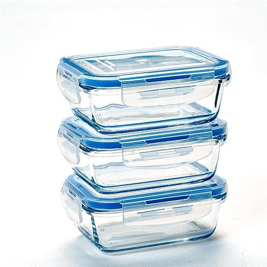 Recipientes de vidrio cristal de longitud de caja del almuerzo de ...