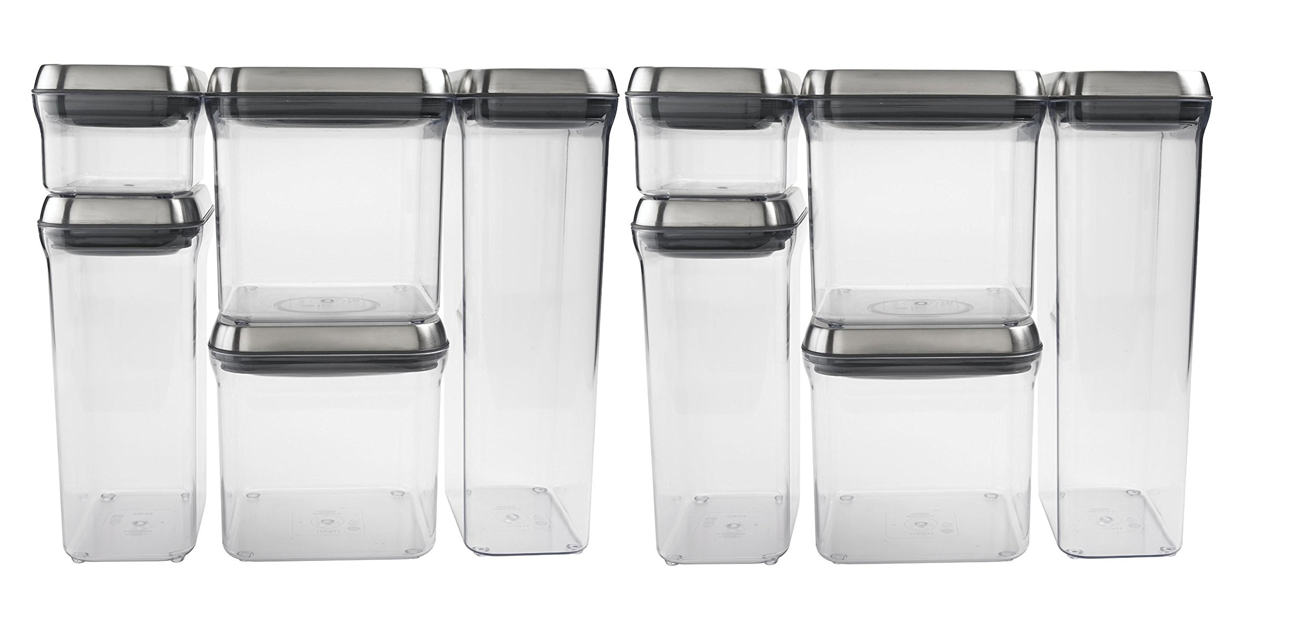 OXO SteeL 10-Piece Pop Container Set by OXO