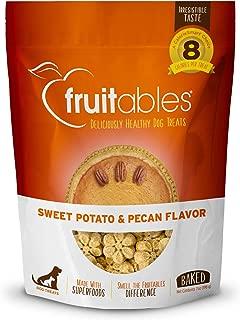 product image for Fruitables Dog Treats | Dog Training Treats | Low Calorie Crunchy Treats | Sweet Potato & Pecan | 7 Ounces