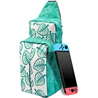 Switch Travel Bag, Travel Carrying Case for Nintendo Switch/Lite [New Leaf Crossing Design] Shoulder Backpack for Switch…