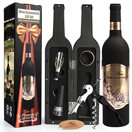 Yobansa 4 Pieces Luxury Accessory Gift Set In Bottle Shaped Wine