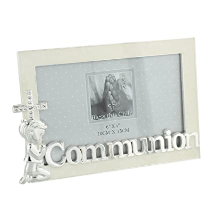 a7b7167c6dc4 Image Unavailable. Image not available for. Color  Oaktree Gifts Silver  Plated Boy Holy Communion Photo Frame 6 x 4
