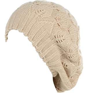 f95d704d9b6 Be Your Own Style BYOS Winter Chic Warm Double Layer Leafy Cutout Crochet  Chunky Knit Slouchy