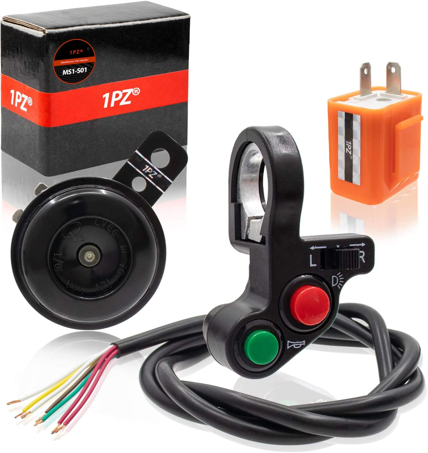 """2X Multifunction 7//8/"""" 22mm Motorcycle Handlebar Horn Signal Light Control Switch"""
