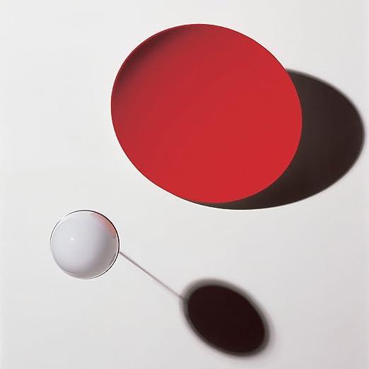 4793f9d1cce9 Ingo Maurer Wall Lamp aka Tsuki White Red L 35 H 35 P 25 cm  Amazon.co.uk   Lighting