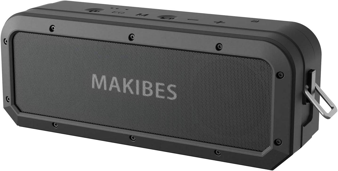 Altavoz Bluetooth 40W, Makibes M2 40W Altavoz Portatiles Waterproof IPX7, 18 Horas de Reproducción, Sonido Estéreo TWS, Efecto de Triple Bajo, Speaker Bluetooth 5.0 y Manos Libres