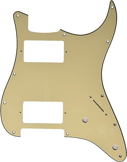 Kmise mi0135 años blanco guitarra Golpeador HH 3 capas para Fender ...