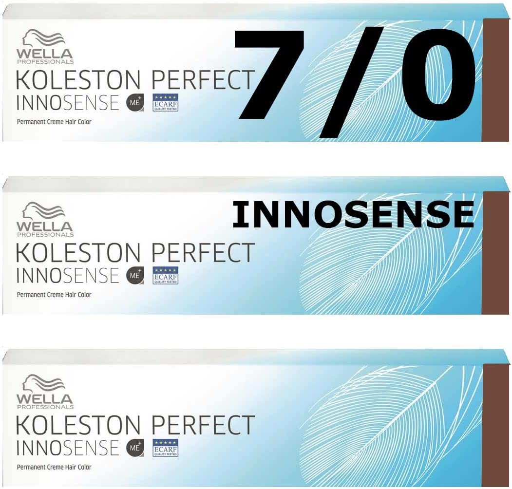 3 x WELLA innosense 7/0 Rubio Medio koleston Color Reduce ...