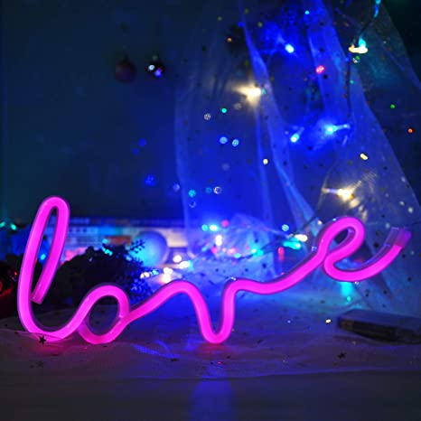 Neon Love Sign Neon Light up Signs Led Signs Wall Lights for Room, Home,Kid  Bedroom, Wall Decoration Dorm Decor Night Light Party Supplies