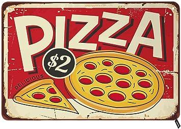 Tin Sign XXL Nostalgic Fun  Pizza