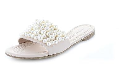 Kennel und Schmenger Damen Pantolette Elle 71-95010.224 Perlen Nudo/Pearl Rose Nappa-Leder