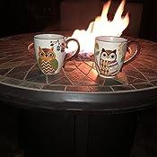 Amazon.com: Mesa de fuego de propano para fogatas al aire ...