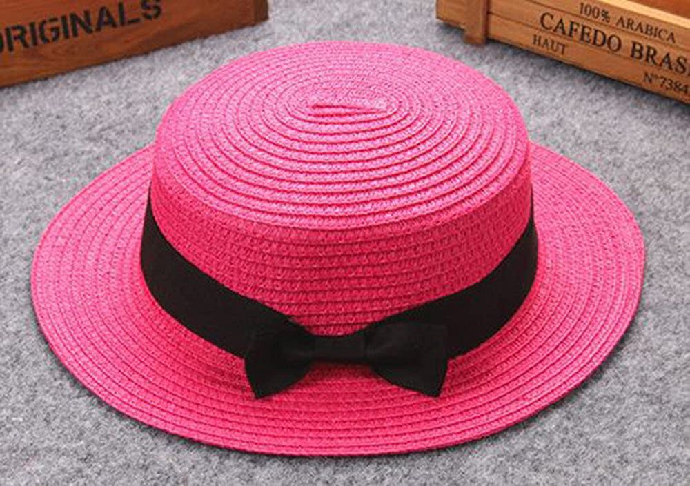 Mother/&Me Father Mother Bowknot Children Breathable Hat Straw Hat Kids Hat Cap Orange