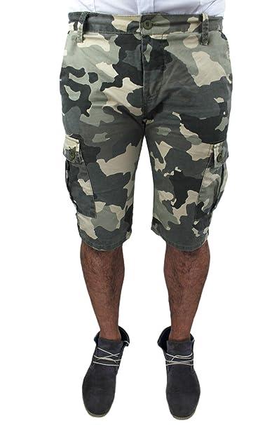Pantaloni Corti Shorts Bermuda Camouflage Uomo Mimetico Militare wwBgFqOxr