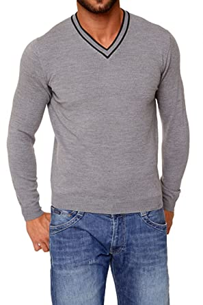 Malo Herren Pullover JOSE, Farbe  Grau, Größe  48  Amazon.de  Bekleidung 5bf6bd9d06