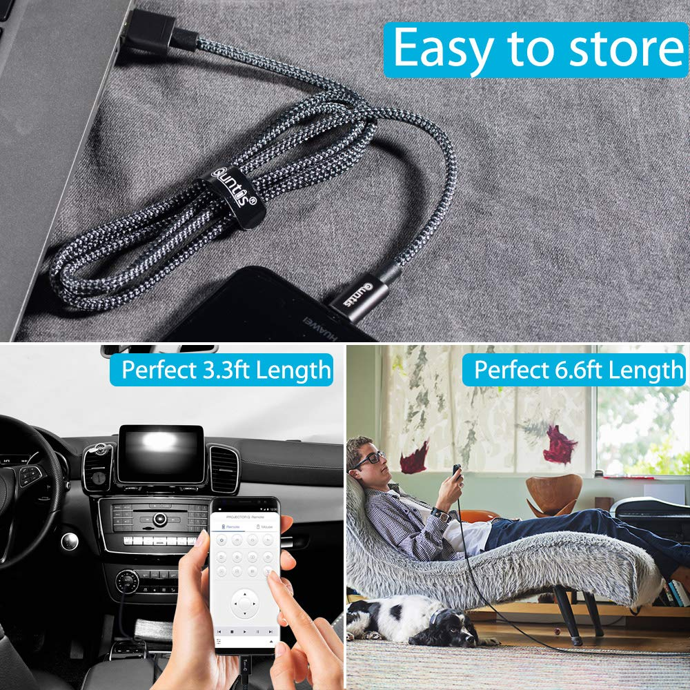 Black Type-C Cable Fast Charging Quntis 3Pack 3ft 3ft 6ft Nylon Certified USB-C to USB-A Cable Compatible with Samsung Galaxy S10E S10 S9 S8 Plus Note 9 Pixel LG G7 G6 V40 Moto Z2 Nexus and More