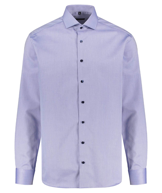 TALLA W44, Longitud manga larga. Eterna Long Sleeve Shirt Modern FIT Fancy Weave Structured