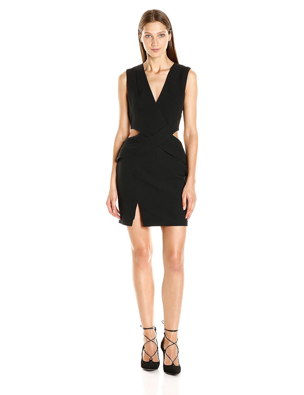 Black KENDALL + KYLIE Womens Deep Plunge Cut Out Dress Dress