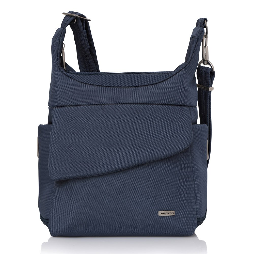 Travelon Anti-Theft Classic Messenger Bag (Blue - Exclusive Color)