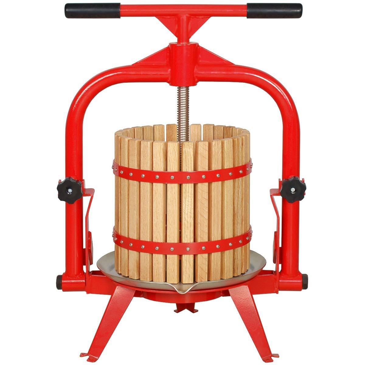MacIntosh Fruit Press 4 Gallon + Wood Basket by Pleasant Hill Grain