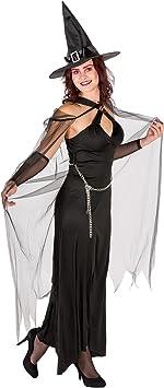 dressforfun Disfraz para Mujer, Reina de Las tinieblas | Vestido ...