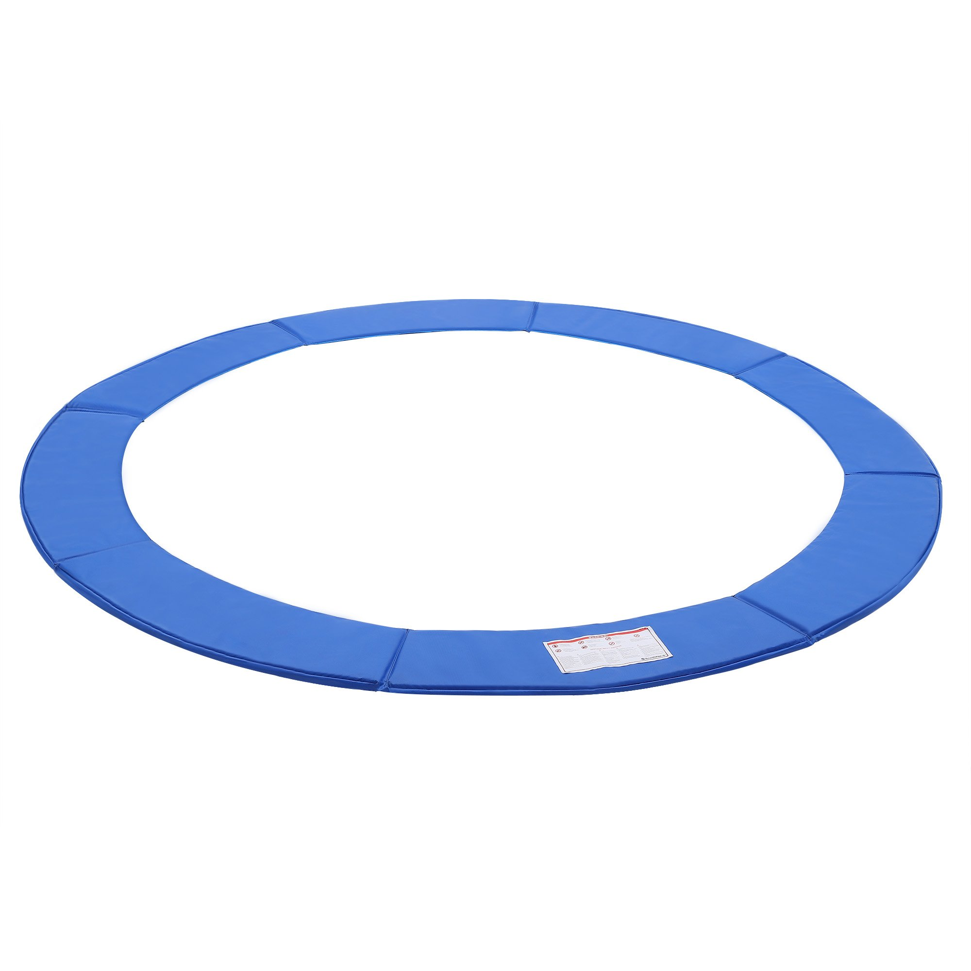 SONGMICS 8FT Replacement Trampoline Safety Pad, Waterproof Surround Spring Cover, Round Foam Pad Blue USTP8FT