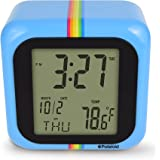 StyleAsia Polaroid Black Desktop Digital Clock with 12/24 Hour Display, Indoor Temperature,