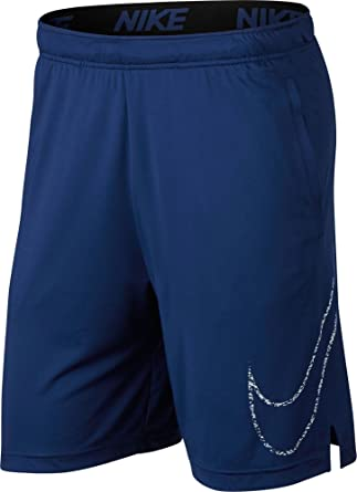 cbf0dc83a NIKE Mens Dry Dri-Fit Big Swoosh Logo Carbon Training Shorts w/Pockets Blue