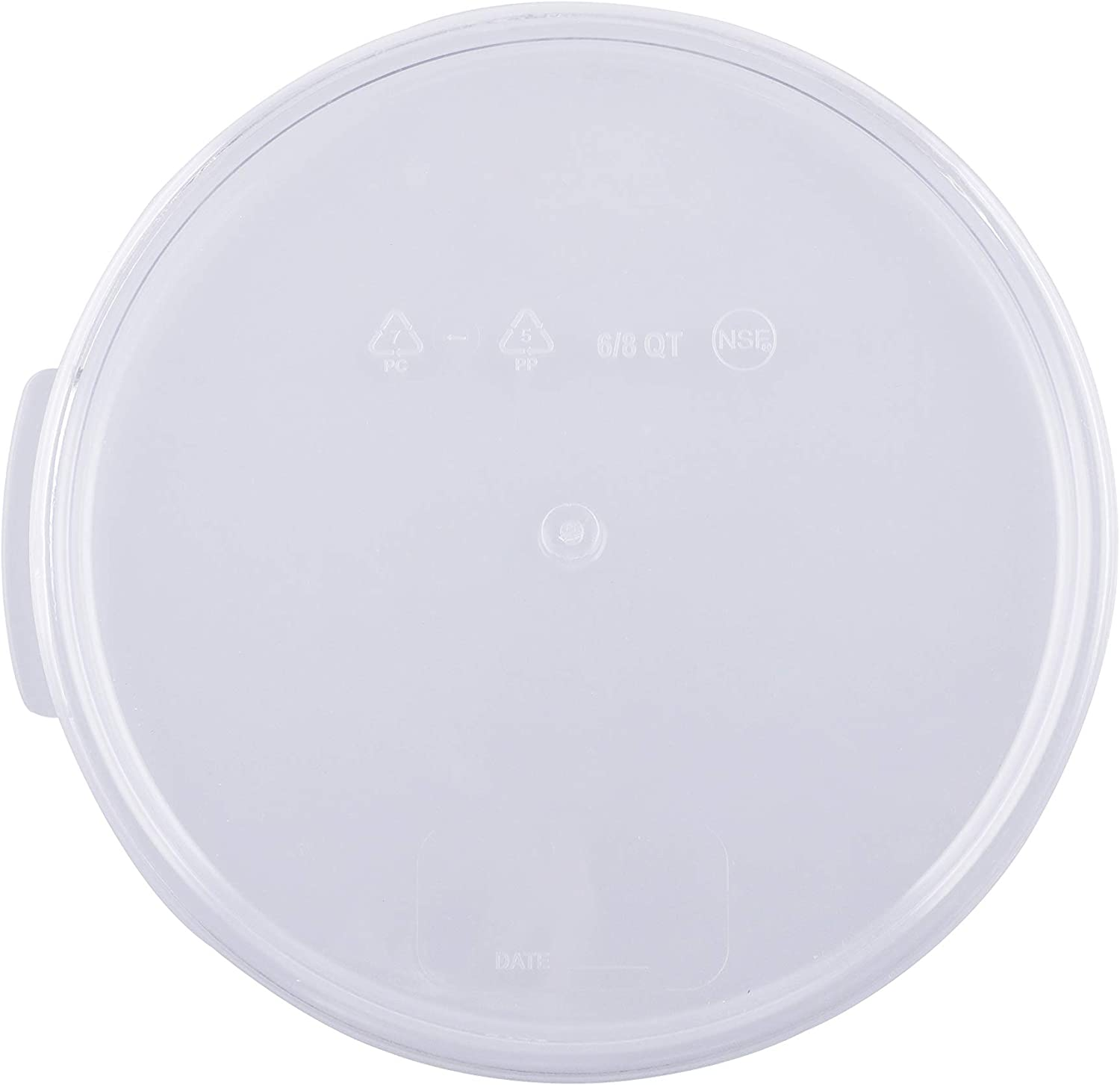Caspian 6 and 8 Qt. Clear Round Storage Box Container Lid, 1 Piece (6、8QT Lid)