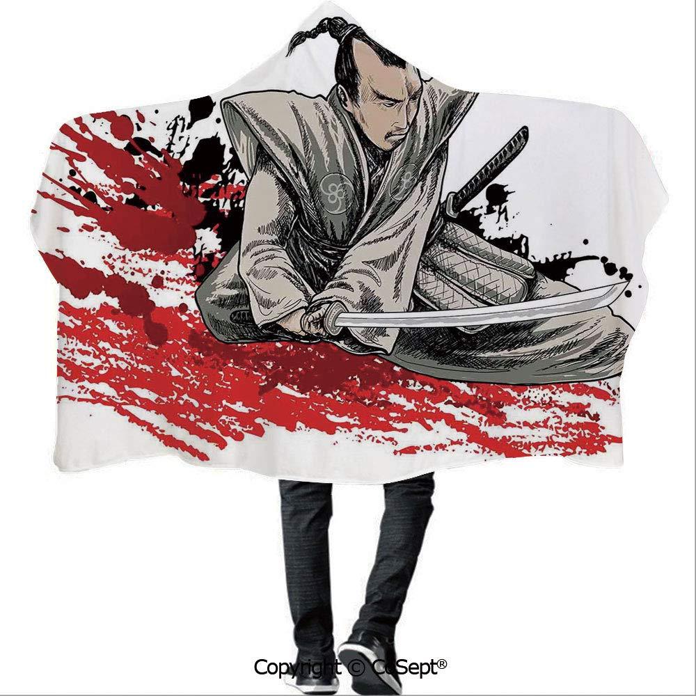 Amazon.com: AmaUncle Wearable Hooded Blanket,Warrior Holding ...