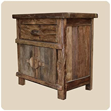 Superieur Simandra Massivholz Kommode Shabby Chic Vintage Teak Holz Möbel Unikat  Handarbeit Antik 3