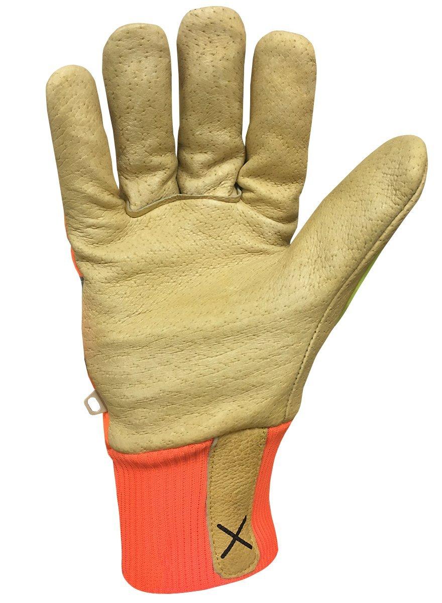 Ironclad EXO2-HVIP5-04-L Hi-Viz Insulated Leather Cut Level 5 Work Gloves Large