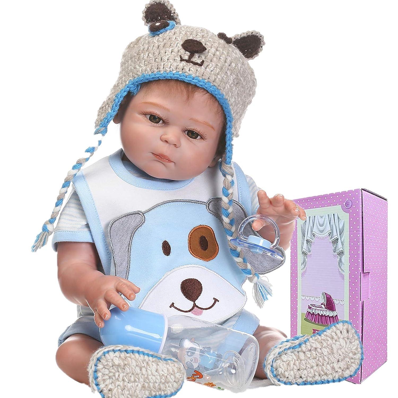 Full Soft Vinyl Silicone Body Reborn Dolls Toy Realistic Newborn Boy Doll Gifts