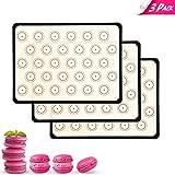 Prodigen Macaron Silicone Baking Mat Non Stick Silicone Mats for Macaron/Pastry/Cookie/Bun/Bread Silicone Baking Sheet Liners