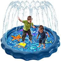 Luxital Splash Sprinkle Pad for Kids, Fountain Outdoor Inflatable Water Toys, 59'' Summer Water Party Spray Play Mat…