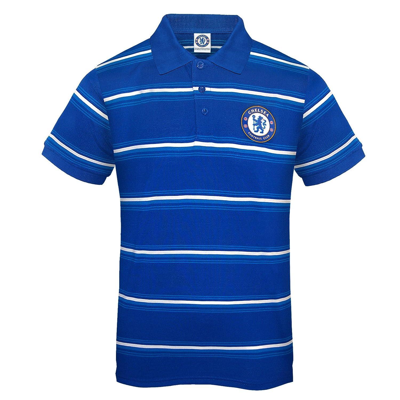 Azul Chelsea FC A rayas Polo oficial para hombre