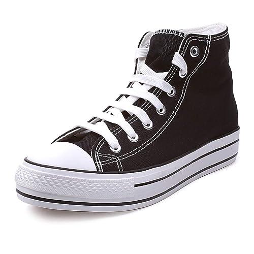 cde75e28d0 MForshop Scarpe Donna Sneakers Alta Casual da Ginnastica para Zeppa  Platform in Tela f801