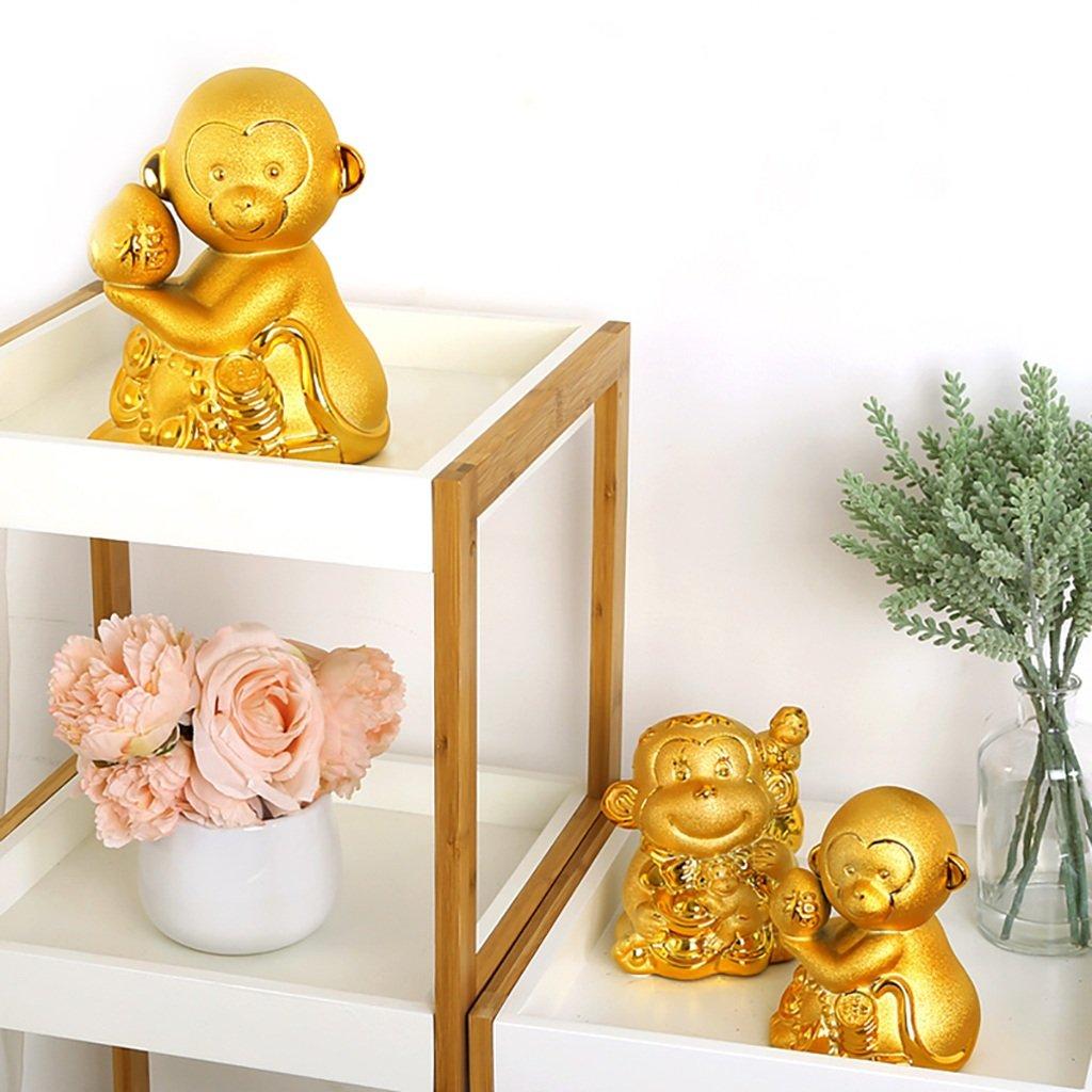 Piggy Bank Ceramic Decoration Monkey Cartoon Gift (Size : S) by XXDP (Image #8)