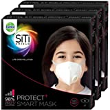 Dettol SiTi Shield N95 Anti Pollution Smart Mask, Unisex, (Small, Pack of 3)