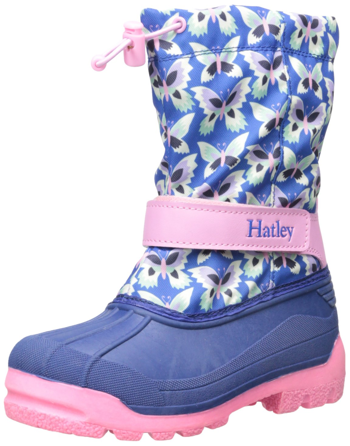 Hatley Girls' Winter Boots-Butterflies, Blue, 1