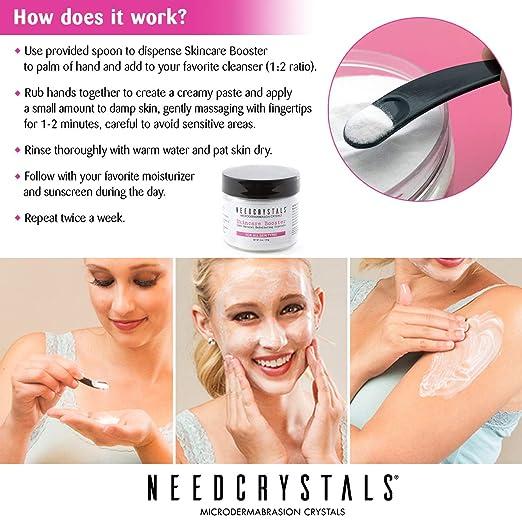 Exfoliante Facial Natural para Piel Aburrida o Seca Mejora cicatrices de acné, puntos negros, arrugas, imperfecciones y textura de la piel.