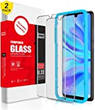 SMARTDEVIL 2 Pack Screen Protector Foils for Huawei P30 Protective Tempered Glass Film for 6.1 Inch Screen with Installation Tool, High Definition,9H Hardness Support Shockproof Anti-Scratch