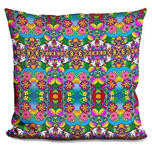 LiLiPi Doves and Flowers Decorative Accent Throw Pillow