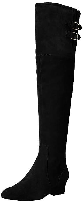 c54da732fec Nine West Women s JAEN Leather Fashion Boot Black 5 Medium US