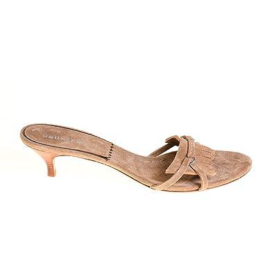separation shoes 8a997 5491d Unützer Damen Sandalen Pumps Leder Braun, Schuhgröße:40 ...